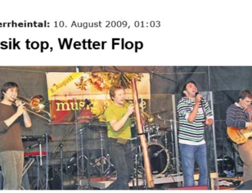 Musik top, Wetter Flop 2009